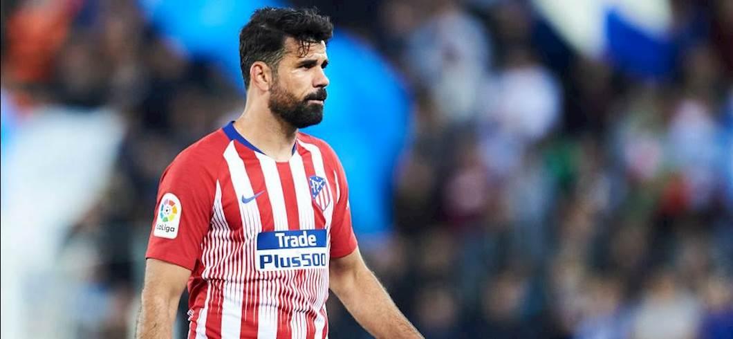 Atletico Madrid, si ferma Diego Costa: incerti i tempi di recupero dell'attaccante dei colchoneros