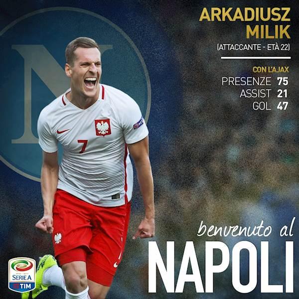 Maglia Home Napoli ARKADIUSZ MILIK